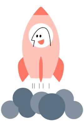 mann i rakett som tar av