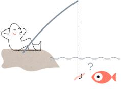 mann som fisker