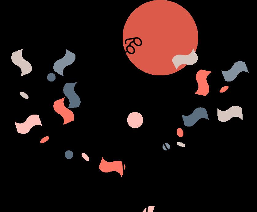 mann/figur med penger i solnedgang/-oppgang som kaster brillene sine i været i ren glede